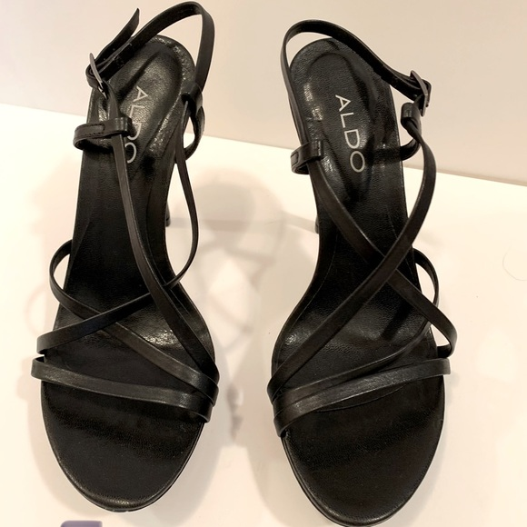 Like-new Strappy Black Heels